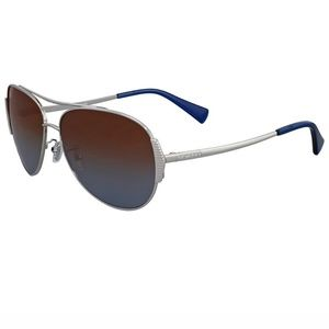 Coach Sunglasses Blue/Brown Polarized Lens